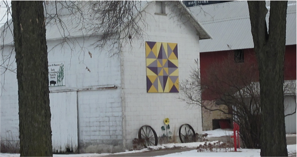 Take a scenic drive down River Road just outside of Sauk City to see this beautiful barn quilt located at the Jack Wyttenbach farm: E10761 River Road, Sauk City, WI.
