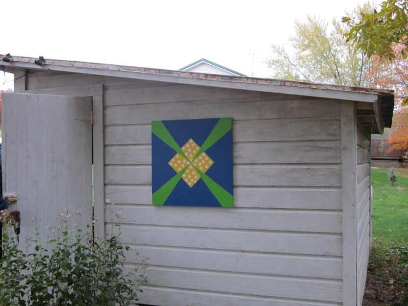 Patty Cook on Bender Drive selected this smaller quilt design for her sunny potting shed.